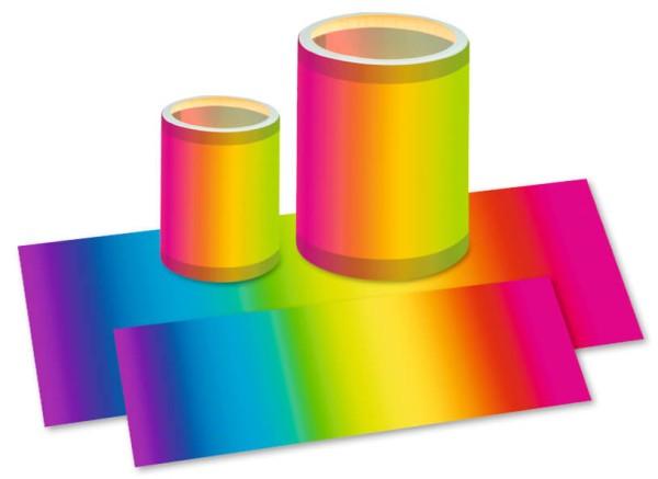 URSUS Laternenzuschnitt Transparentpapier 20x50cm regenbogen 1 Bogen