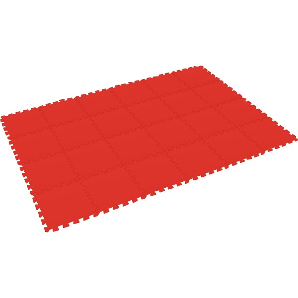 Bodenmatte Puzzlematte UNO (24 Teile), rot - 16 mm - 0+