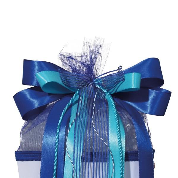 """Roth Schleife """"Blue Dabadu"""", ca. 50x23cm, 80% Polyester, 20% Nylon"""