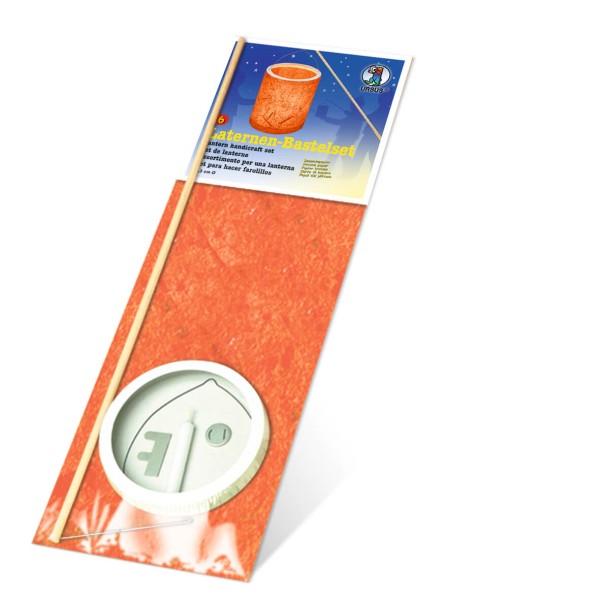 URSUS Laternenset zum Basteln 6 Bananenpapier orange