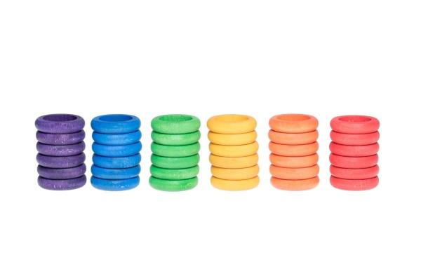 GRAPAT 36 x Ringe (6 Farben Basic)
