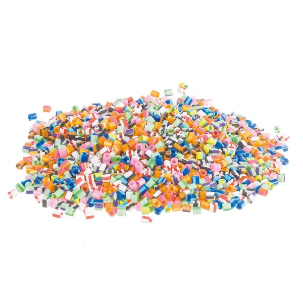 Nabbi® Bügelperlen Ø 5mm, 6.000 Stk., Streifen Mix