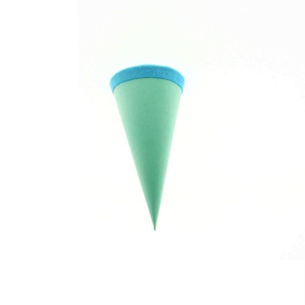 Goldbuch Geschenktüte - 15cm - mint - blauer Filzverschluss