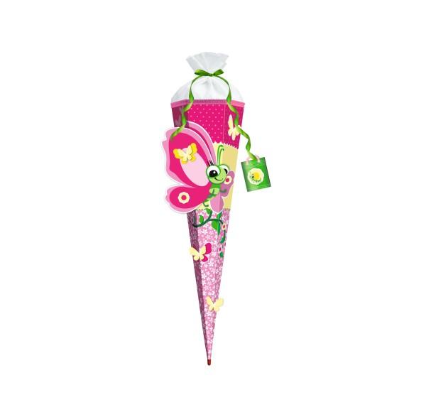 Roth 3D-ST zum Selbstbasteln, Schmetterling Lilly, 80cm, eckig, Rot(h)-Spitze, Filzverschluss