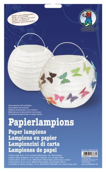 URSUS Packung Papierlampion Blanko 4 Stk.