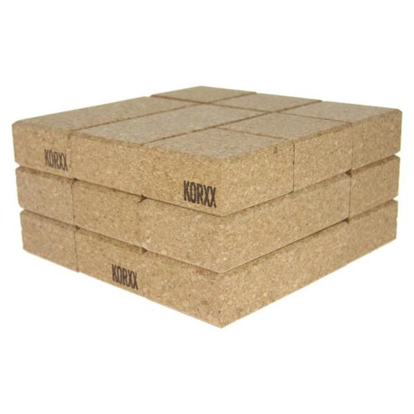 Korxx rechteckige und quadratische Formen 60 Stk. mit Filzbox