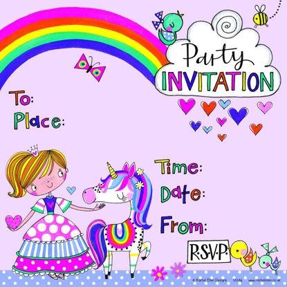 Einladung Prinzessin Und Einhorn (Rachel Ellen)