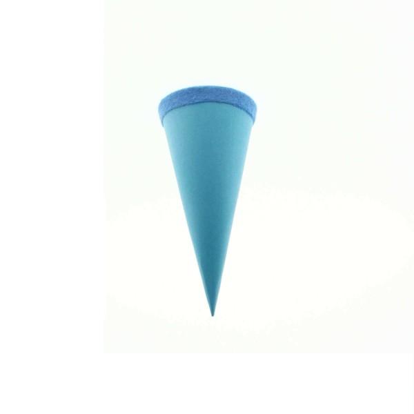 Goldbuch Geschenktüte - 15cm - hellblau - blauer Filzverschluss