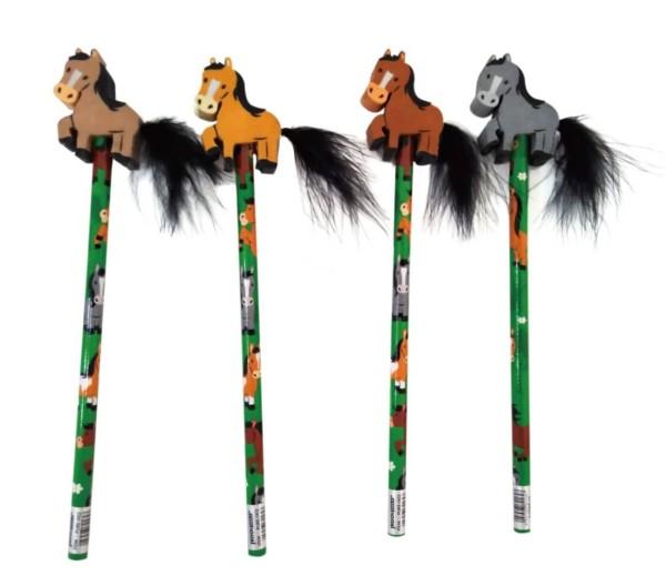 Bleistift Mit Radierer Pferd