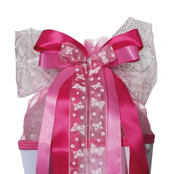 """Roth LED-Schleife """"Pink Glamour"""", ca. 50x23cm,"""