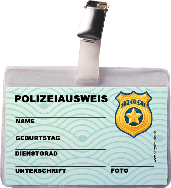 Ausweis Polizei Incl. Hülle Und Clip