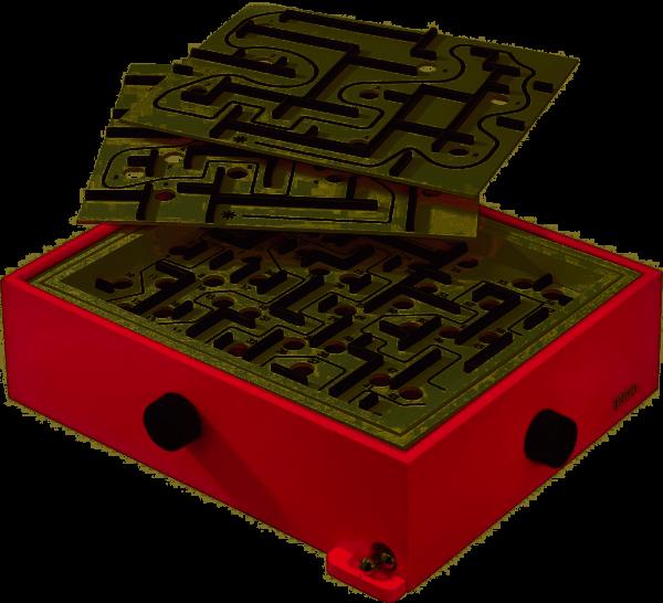 BRIO Spiel Labyrinth mit Übungsplatten, rot