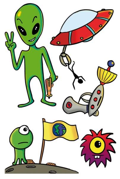 "Tattoos Alien ""Peace"""