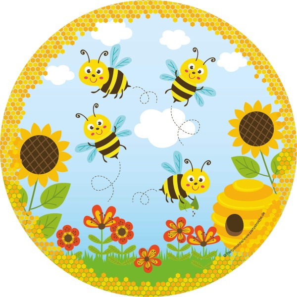 Teller ( Ø 23 Cm) Freche Bienen