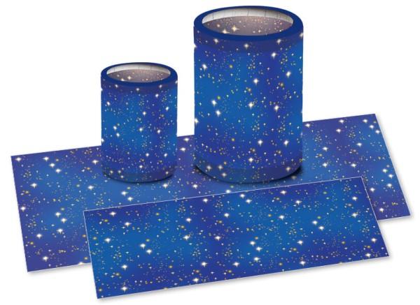 URSUS Laternenzuschnitt 20x50cm sternenhimmel 1 Bogen
