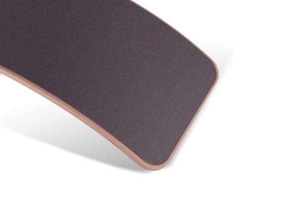 Wobbel Board XL - transparent lackiert, Filz mausgrau