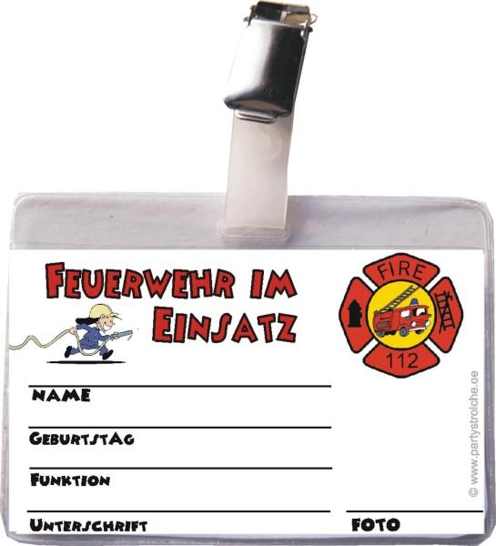 Ausweis Feuerwehrmann (Inkl. Clip Und Hülle)