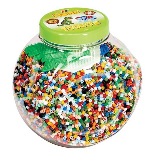 Hama Dose mit Perlen und Stiftplatten