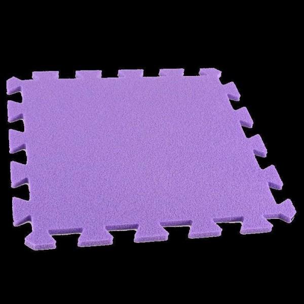 Bodenmatte Puzzlematten Einzelteile - 8 mm - lila
