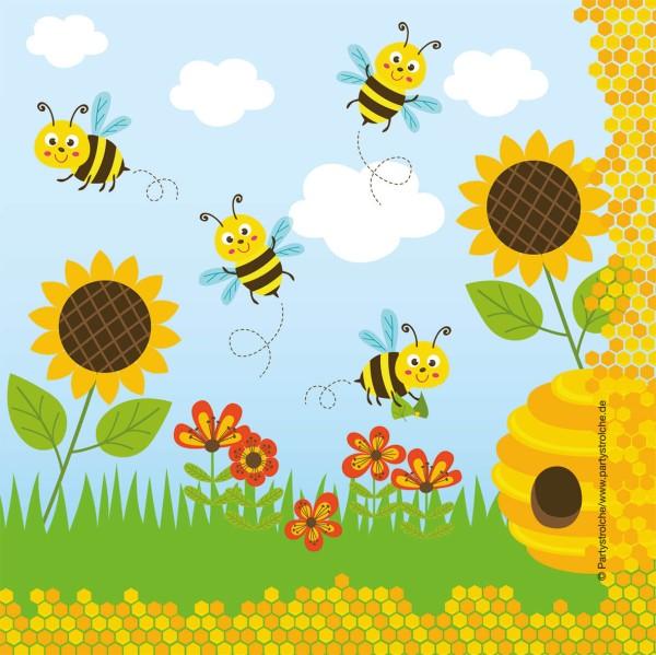 Servietten (33 Cm), Freche Bienen
